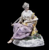 A Meissen figure emblematic of 'Justice'