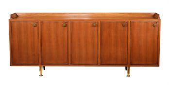 An Italian hardwood sideboard