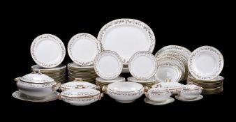 A T.C. Brown-Westhead, Moore & Co. porcelain part dinner service