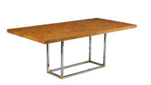 Jonathan Adler, a burr wood extending dining table