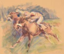 λ John Skeaping (British 1901-1980), All out for the post