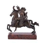 A bronze model of Perseus upon the winged horse Pegasus