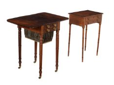 A Regency mahogany Pembroke work table