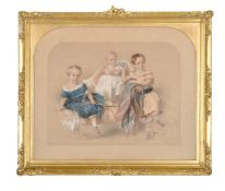 J. Gilbert (British 19th century), Portrait of three children