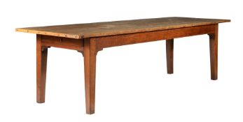 A pine and elm farmhouse kitchen table