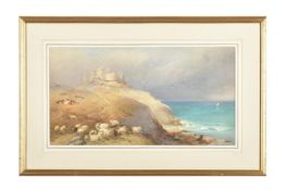 Attributed to Thomas Francis Wainwright (British 1794-1883), Sheep grazing by the coast