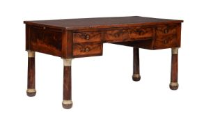 A Louis Philippe mahogany and gilt metal mounted writing table