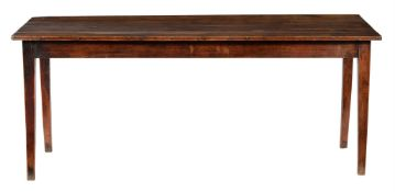 A French fruitwood refectory table