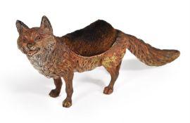 An Austrian cold painted bronze model of a fox