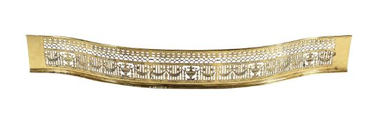 A George III pierced brass fender