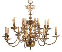 A pair of Continental metal chandeliers in 18th century taste