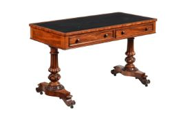 A William IV mahogany library table