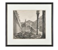 A group of four engravings of views of Rome