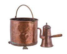 A Regency copper log bin
