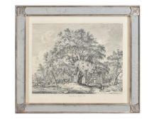 A set of eight mirror framed engravings after J. G. Strutt