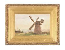 British School (19th century), The windmill on Surrey Common