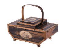 Y A Regency calamander and boxwood banded work box