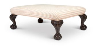 A STAINED HARDWOOD FOOTSTOOL, 20TH CENTURY