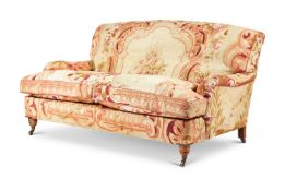 A HOWARD & SONS STYLE TWO SEAT SOFA