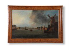 DANIEL TURNER (BRITISH ACT. 1782-1801), WESTMINSTER BRIDGE FROM LAMBETH