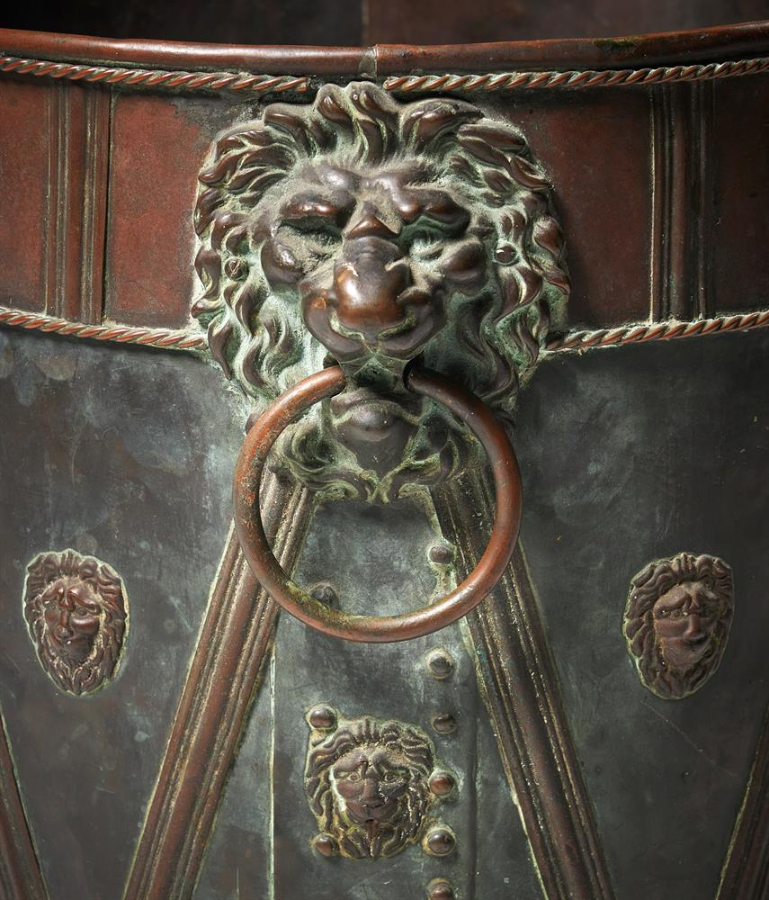 A PAINTED AND PATINATED METAL COAL BUCKET - Image 2 of 2