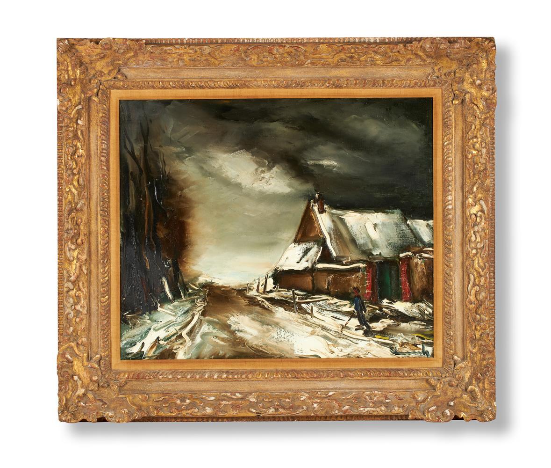 λ MAURICE DE VLAMINCK (FRENCH 1876-1958), PAYSAGE D'HIVER