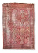 A TURKISH RED GROUND USHAK CARPET