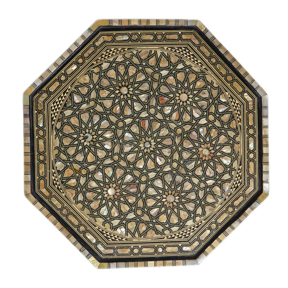 Y AN OTTOMAN MOTHER OF PEARL AND BONE INLAID OCCASIONAL TABLE - Image 2 of 2