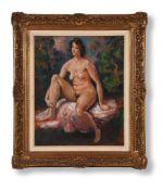 λ AUGUSTUS JOHN (BRITISH 1878-1961), SEATED NUDE, PORTRAIT OF VIVIEN, THE ARTIST'S DAUGHTER