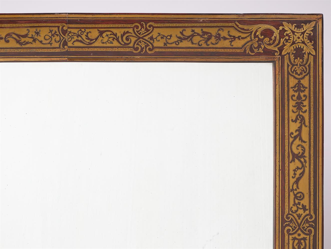 Y A ROSEWOOD AND CUT-BRASS OVERMANTEL MIRROR - Image 2 of 2