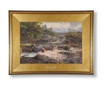 HENRY MOORE (BRITISH 1831-1895), RIVER LANDSCAPE