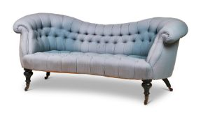 A KIDNEY SHAPED SOFA IN VICTORIAN STYLE, LATE 20TH CENTURY