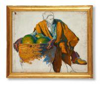 LUDWIG DEUTSCH (AUSTRIAN 1855-1935), THE MARKET VENDOR