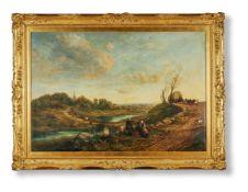 THOMAS CRESWICK (BRITISH 1811-1869), THE ROAD TO LONDON 100 YEARS AGO