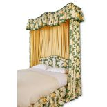 A HALF TESTER BED, 20TH CENTURY