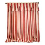 CREAM AND RED STRIPED CURTAIN, ROBERT KIME