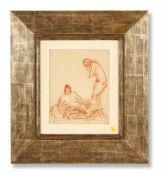 λ AUGUSTUS JOHN (BRITISH 1878-1961), TWO FEMALE FIGURES AND AN INFANT