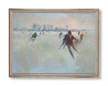 λ LAWRENCE TOYNBEE (BRITISH 1922-2002), SKATING IN OXFORD