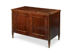 A MAHOGANY AND BRASS MOUNTED SIDE CABINET