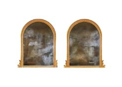 A PAIR OF VICTORIAN GILTWOOD OVERMANTEL MIRRORS, BY ROBERT KIME