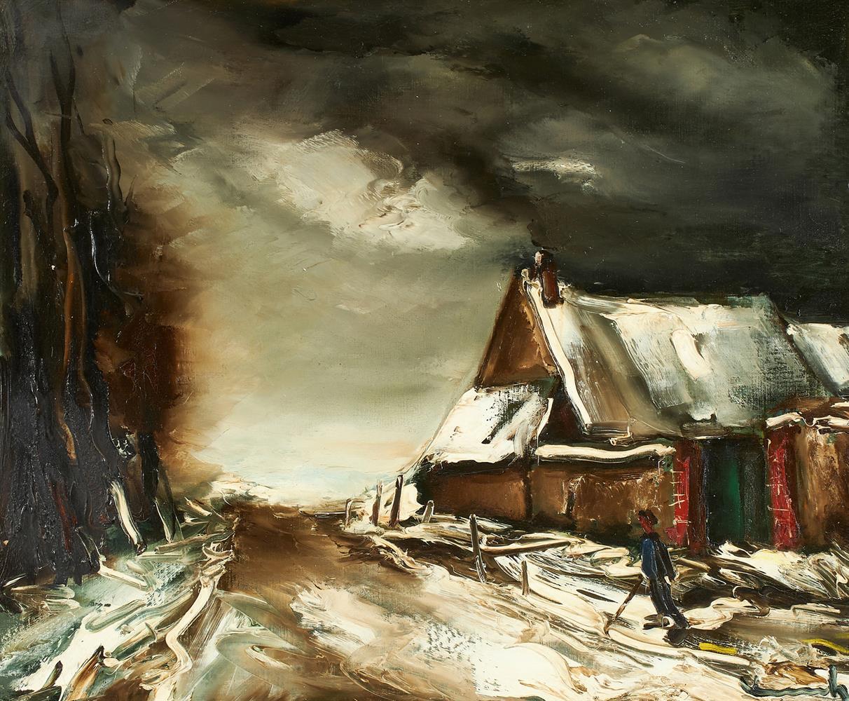 λ MAURICE DE VLAMINCK (FRENCH 1876-1958), PAYSAGE D'HIVER - Image 2 of 2