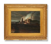 ATTRIBUTED TO JOHN PETHERICK (BRITISH 1788-1861), LORD BUTE'S IRONWORKS, RHYMNEY, SOUTH WALES