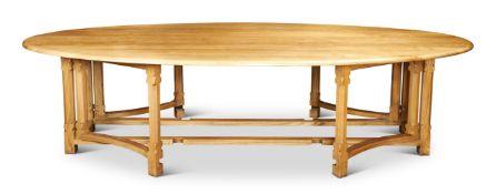 AN ELM TOPPED 'GIMSON' TABLE