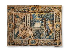 AN AUBUSSON VERDURE TAPESTRY, PROBABLY FIRST HALF 17TH CENTURY