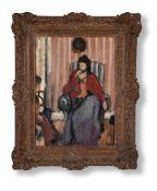 λ GEOFFREY TIBBLE (BRITISH 1909-1952), WOMAN SEATED IN AN INTERIOR