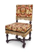 A WILLIAM AND MARY STYLE SIDE CHAIR, 20TH CENTURY