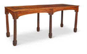 A FRENCH WALNUT REFECTORY TABLE, 19TH CENTURY