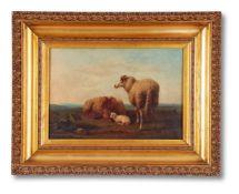 FOLLOWER OF EUGENE VERBOECKHOVEN, SHEEP RESTING IN A LANDSCAPE