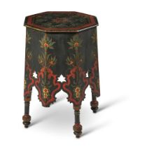 AN OTTOMAN STYLE PAINTED OCTAGONAL OCCASIONAL TABLE