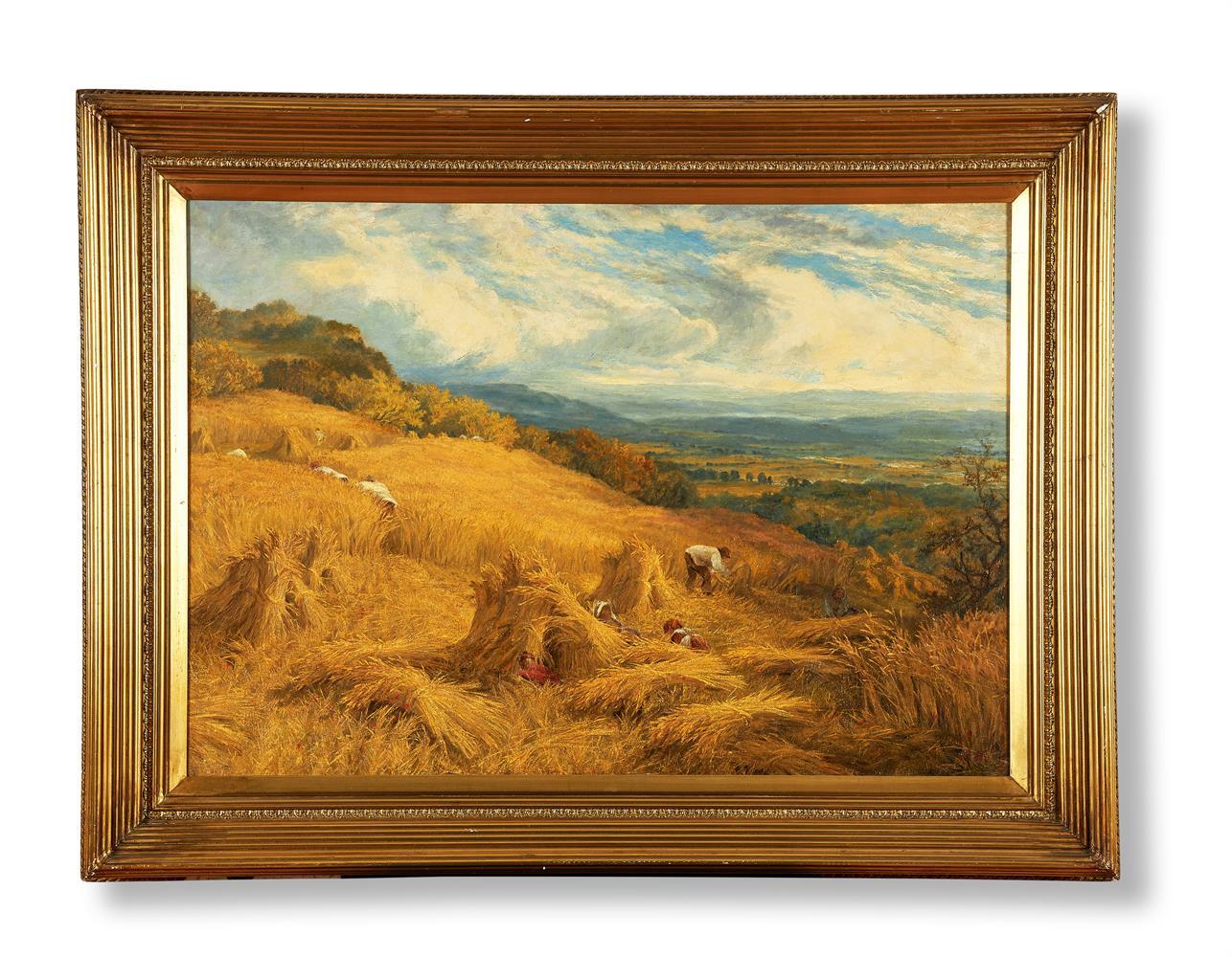 CIRCLE OF JOHN CLAYTON ADAMS (BRITISH 1840-1906), HARVESTING THE CORN